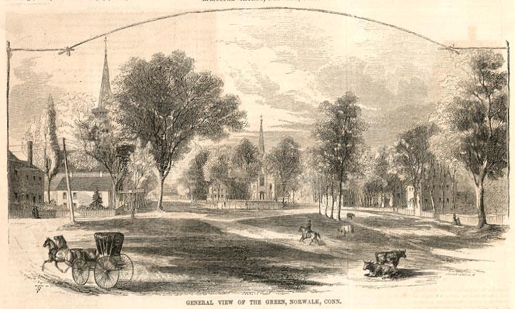 Norwalk Connecticut Green in 1855